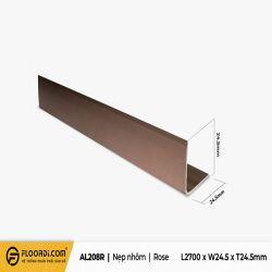 Nẹp chữ V - AL208R - Rose - 24.5mm