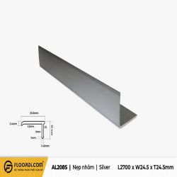 Nẹp V - AL208S - Silver - 24.5mm
