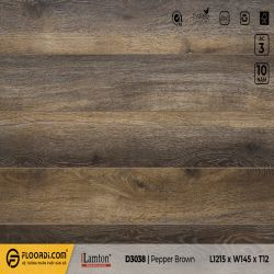 Sàn gỗ Lamton D3038 Pepper Brown - 12mm - AC4