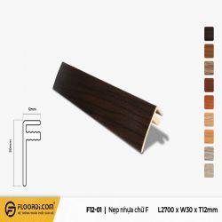 Nẹp chữ F - F12-01- Brown Black - 12mm