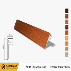 Nẹp chữ F - F12-09 - Red Brown - 12mm