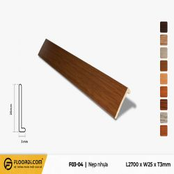 Nẹp chữ F - F3-04 - Brown - 3mm