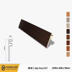 Nẹp chữ F - F8-01 - Black - 3mm