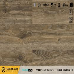 Sàn gỗ FP33 French Oak Dark - 8mm - AC4