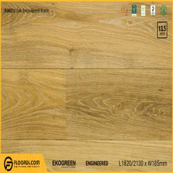 Sàn gỗ sồi Engineered Ekogreen E6803 Oak Smouldered Rustic - 13.5mm