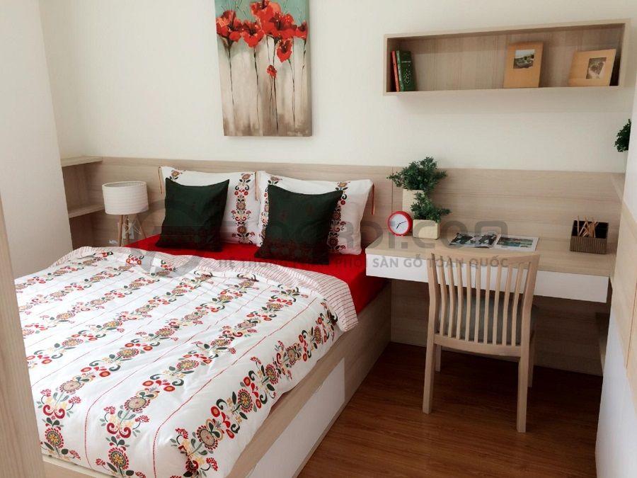 Floordi thi công lắp đặt sàn gỗ căn hộ Flora Kykio