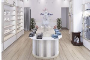 Công trình lắp đặt sàn gỗ tại Ommi Shop Đồng Nai