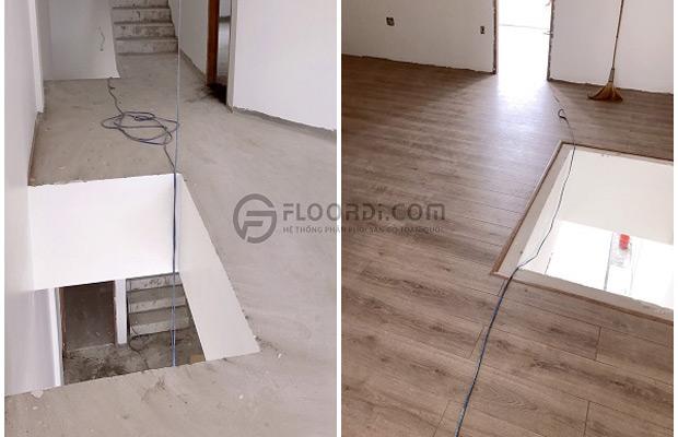 Trước và sau khi lắp đặt sàn gỗ